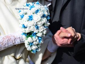 букет невесты, свадебный букет из бумажных роз, розы из салфеток своими руками, ручная работа, творчество, свадьба, handmade, handwork, праздник, цветы из бумаги, цветы из салфеток