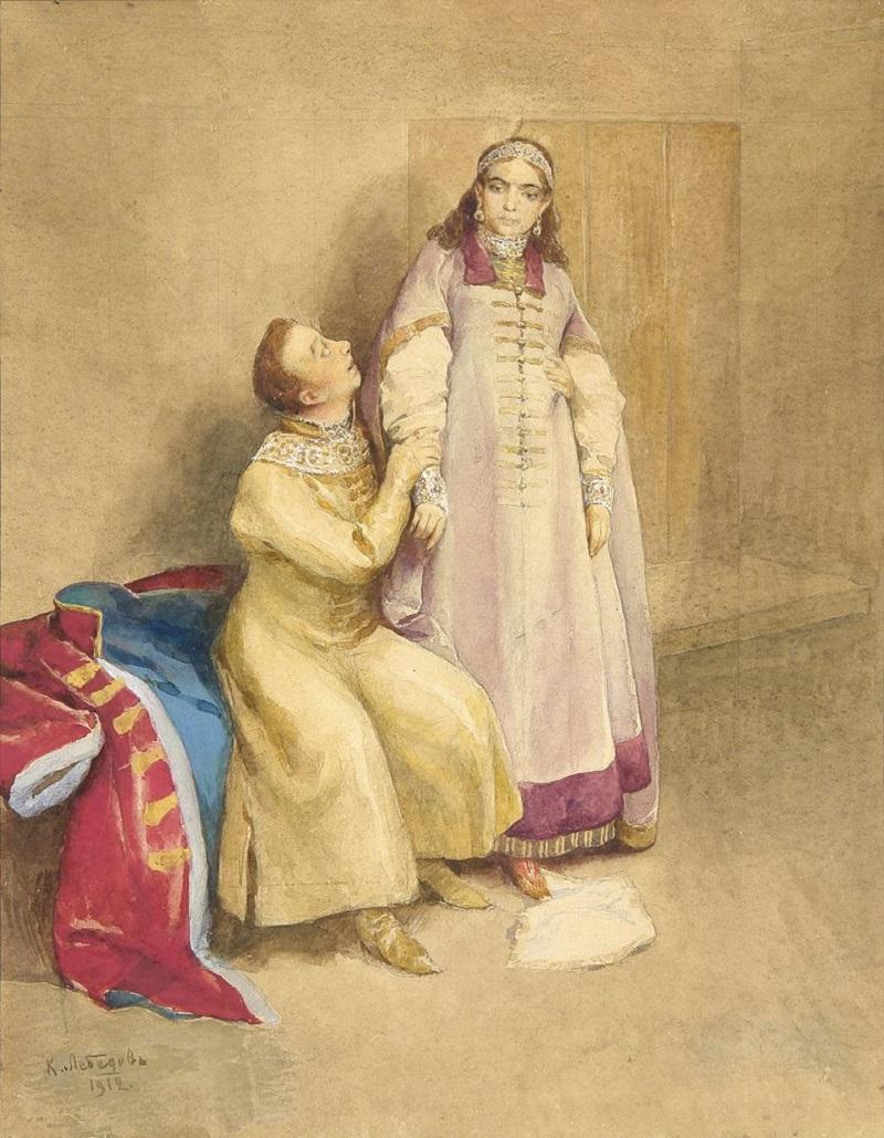 Лжедмитрий I и царевна Ксения Годунова.jpg