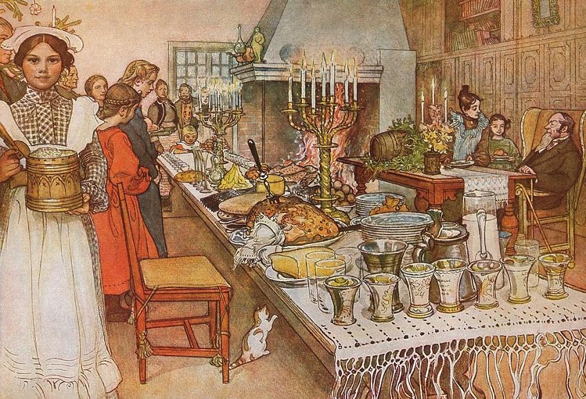 Картинки по запросу акварель как накрывали на стол в старом петербурге