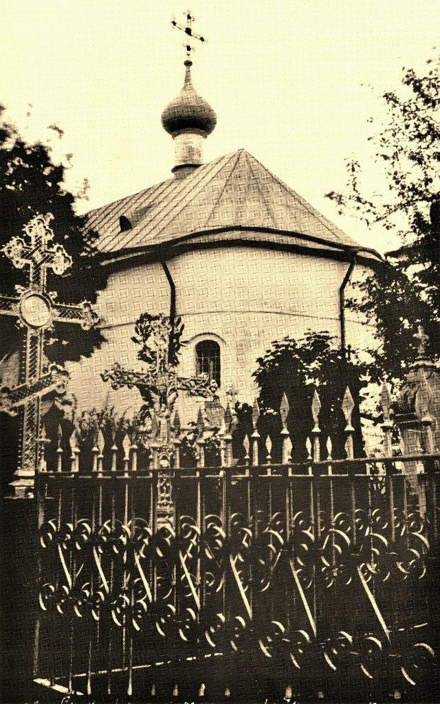 Церковь Рождества Христова. Вид на четверик с юго-востока. 1917