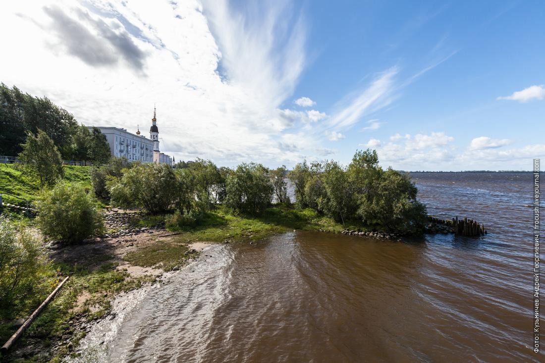 Северная Двина в черте города бывает и такая: без гранитных берегов