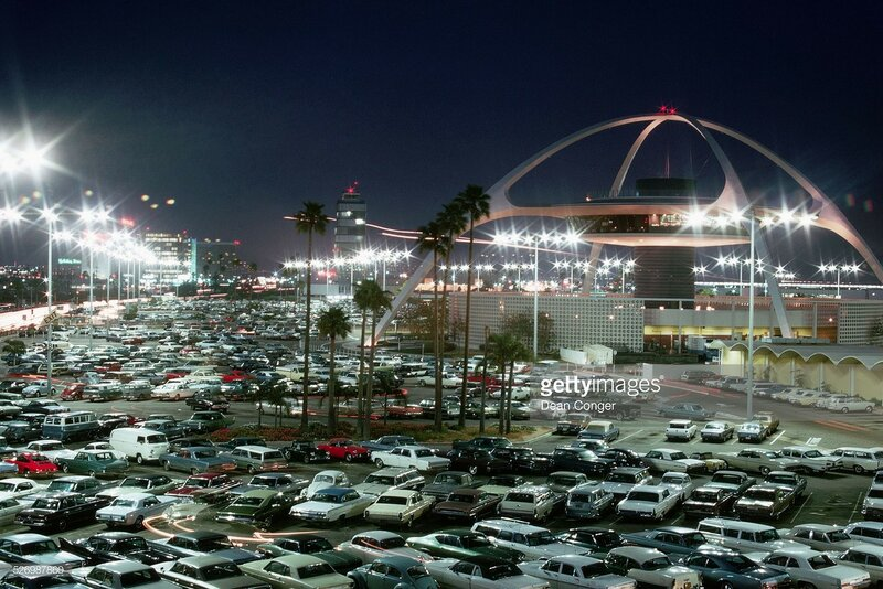 Airport Parking Lot and Suspended Restaurant, Los Angeles. Dean Conger.jpg