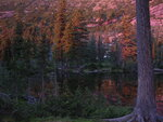 Ергаки. Озеро Лазурное на закате.