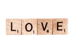concept love hate scrable letters