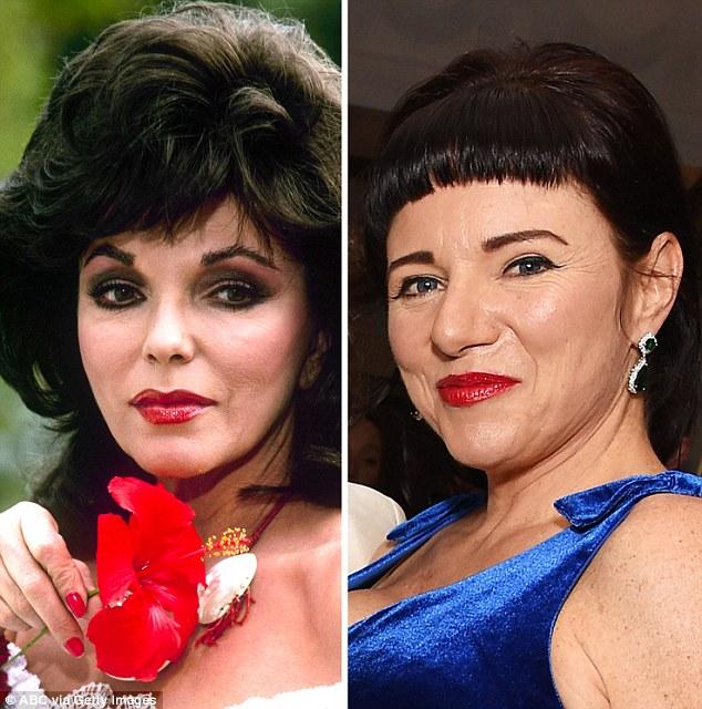 Слева актриса и писательница Джоан Коллинз, а справа ее дочь, певица Тара Ньюли. Обеим по 53 года.