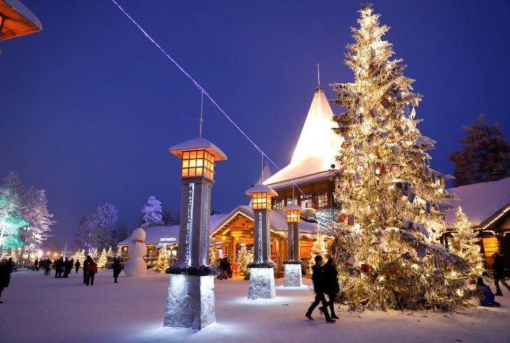 1. Деревня Санта-Клауса находится неподалёку от города Рованиеми в провинции Лапландия. Тут пос