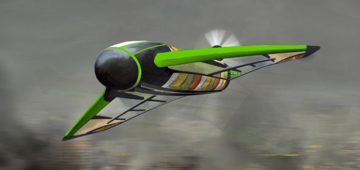 Британцы разработали оригинальный беспилотный летательный аппарат для доставки гуманитарной помощи.