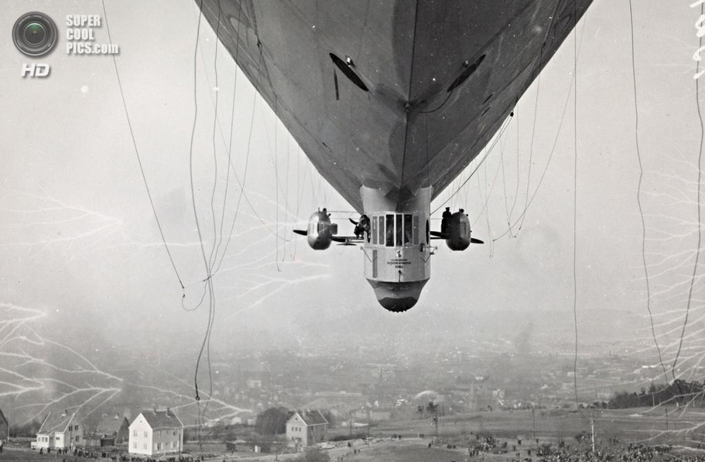 Норвегия. Экеберг, Осло. 14 апреля 1926 года. Дирижабль «Норге». (National Library of Norway)
