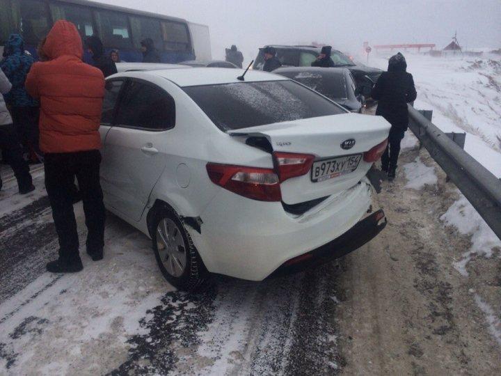 11 пассажиров перевозил автобус, столкнувшийся сМАЗом натрассе М-52