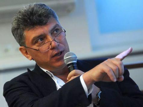 Активисты вывесили баннер оМарше памяти Бориса Немцова в российской столице