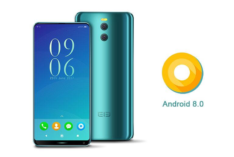 Elephone рекламирует новый безрамочный смартфон наОС андроид 8.0
