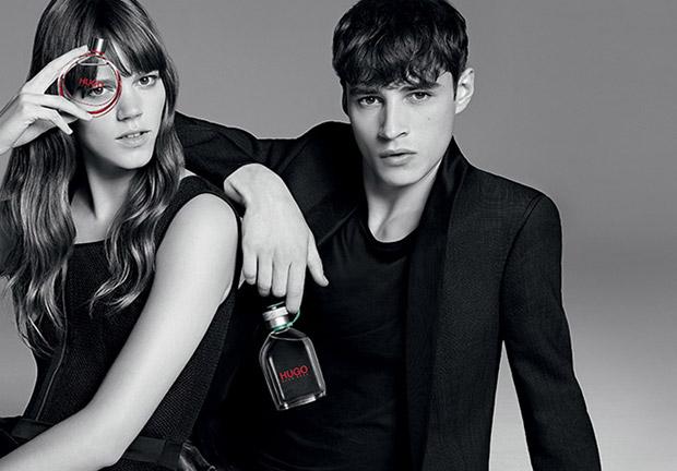 Freja Beha & Adrien Sahores for HUGO Fragrance 2015 (8 pics)