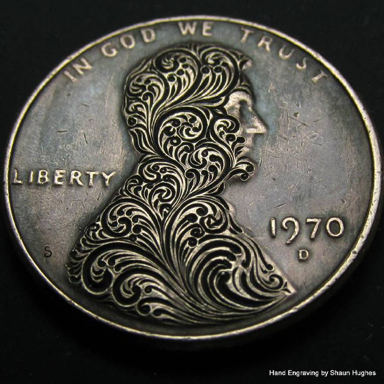 Engraving meticulous creations in coins