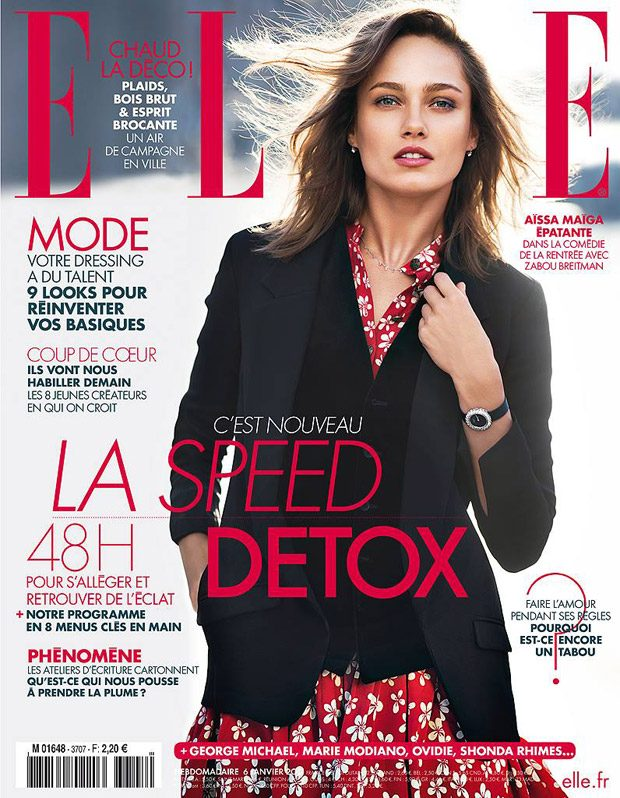 Supermodel Karmen Pedaru Stars in Elle France January Cover Story