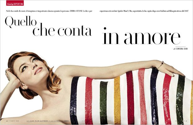 Emma Stone Star in Vanity Fair Italia January 2017 Cover Story