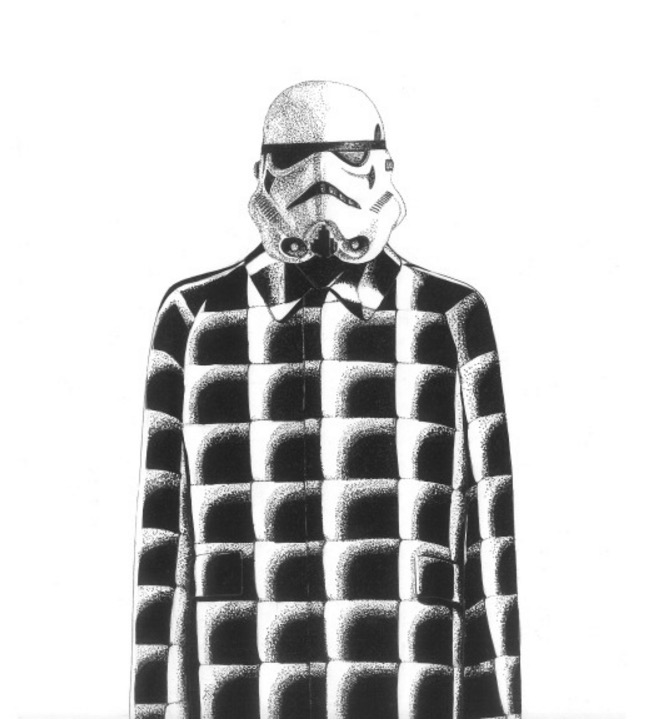 StormTrooper wearing Balenciaga Fall 2015 Collection.