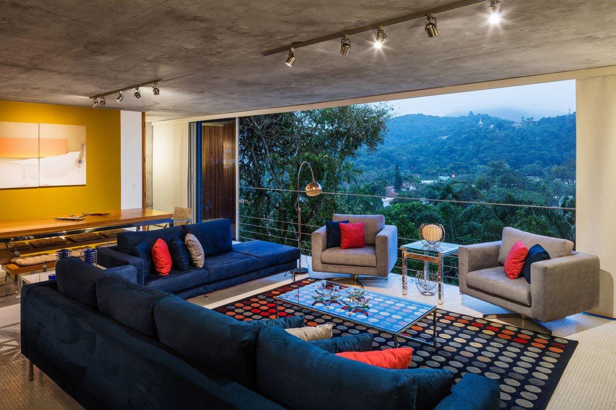 гостиная с красивым видом