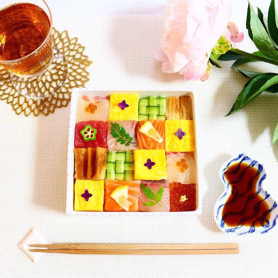 Mosaic Sushi Trend Turns Lunches Into Visual Works