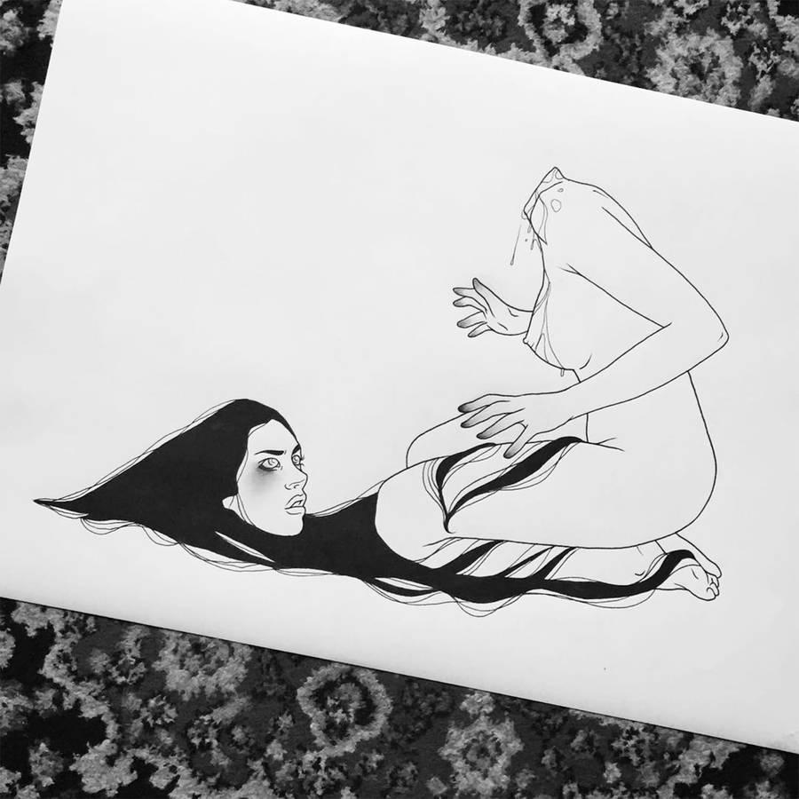 Erotic Linear Tattoos