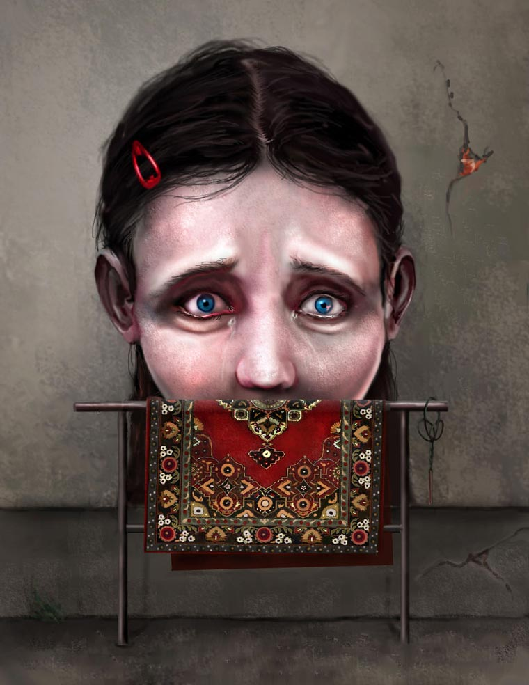 The satirical illustrations by Sebastian Pytka