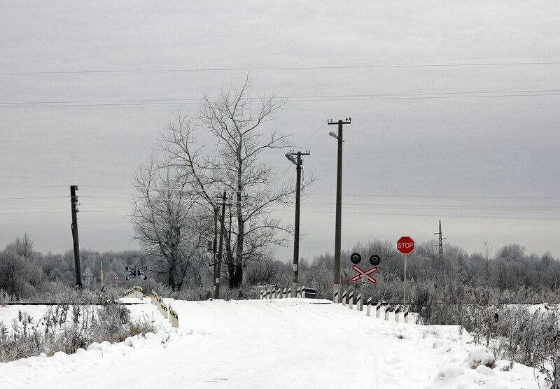 Переезд у станции Рождествено, перегон Ржев-Балтийский - Рождествено