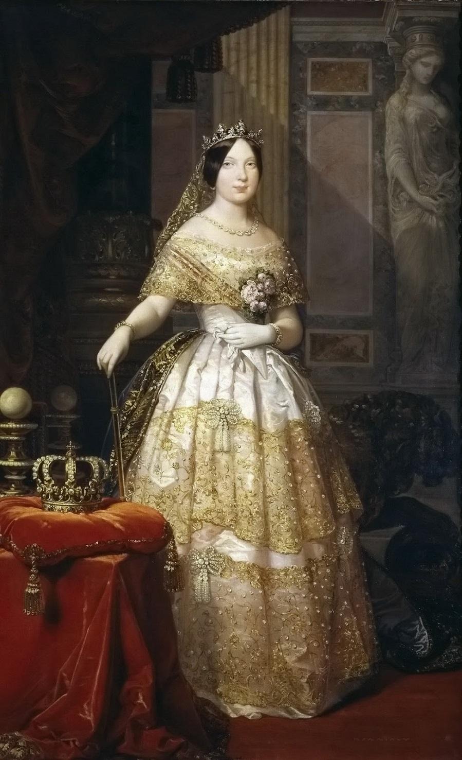 1_1848_Портрет Изабеллы II, королева Испании_217 x 136_х.,м._Мадрид, музей Прадо.jpeg