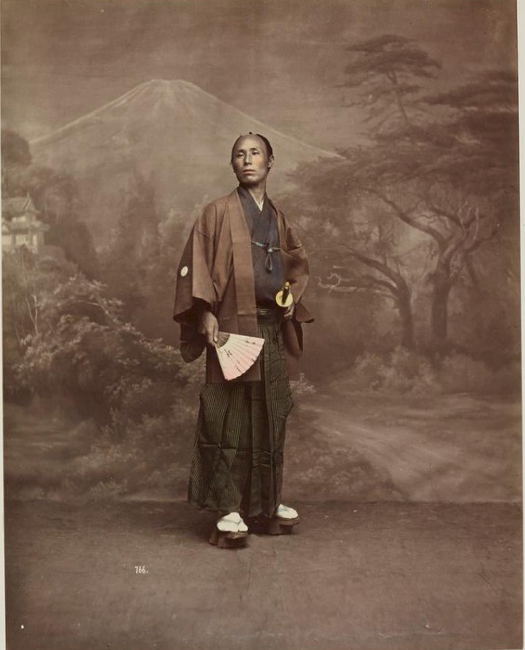 Самурай в торжественном одеянии