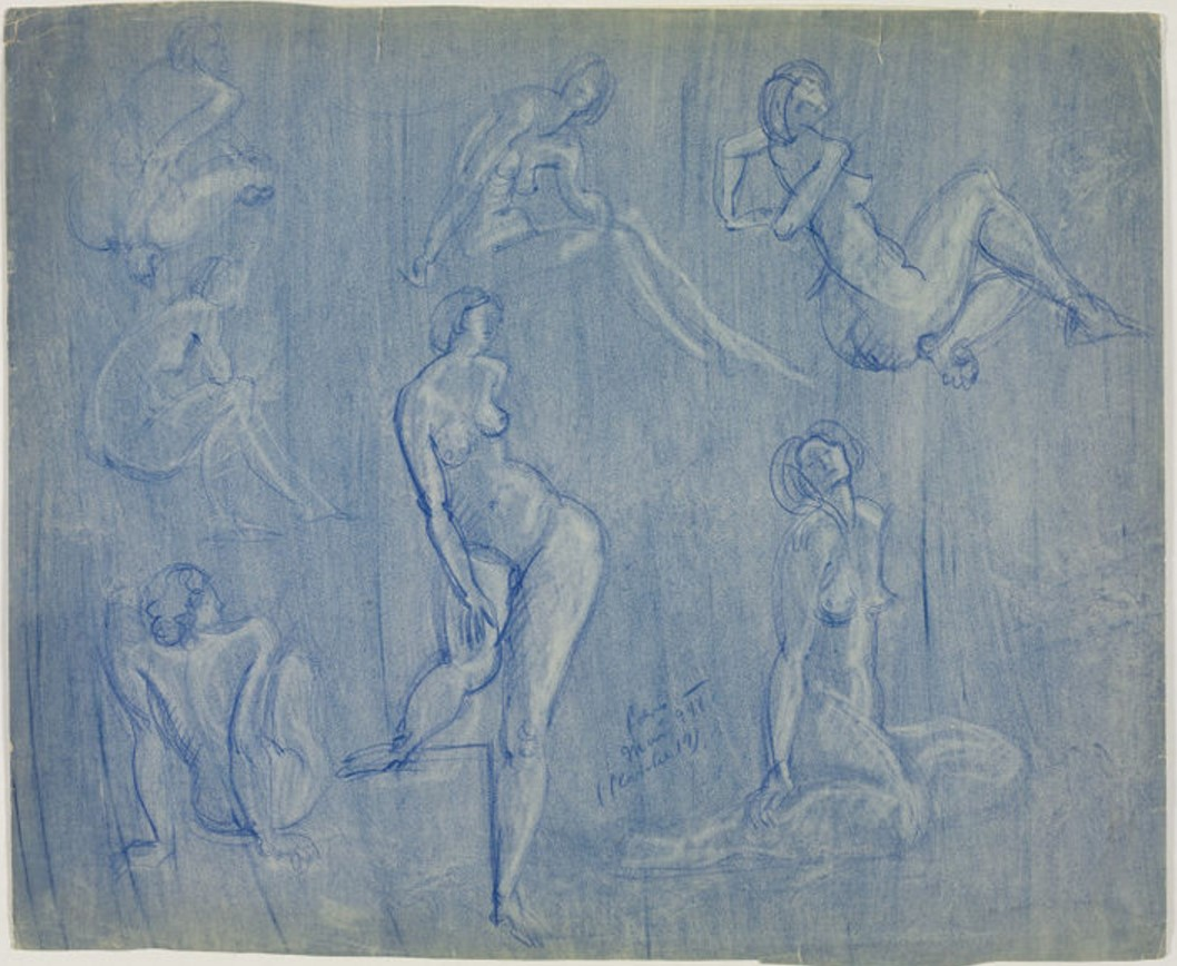 1944. Семь обнаженных женщин