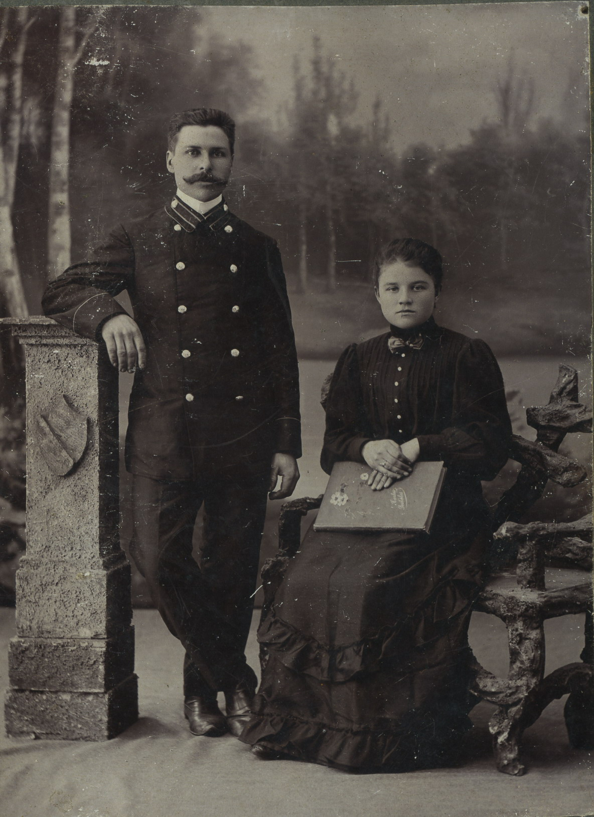 Портрет супружеской пары.1900-1905