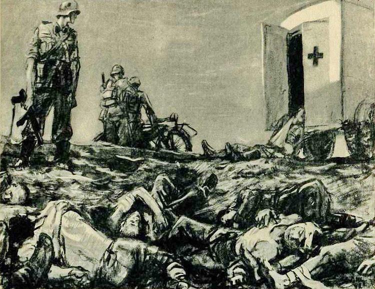 Добили. Расправа над раненными красноармейцами. 1942 г..jpg