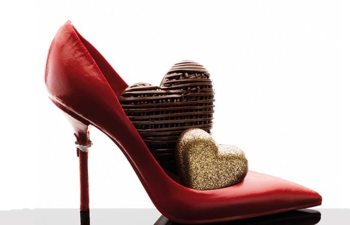 Всемирный день шоколада 11 июля. Сердечки-шоколадки в туфельке
