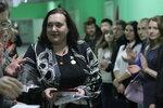 Почётный знак ДОСААФ на груди секретаря соревнований Омельченко Мирославы.JPG