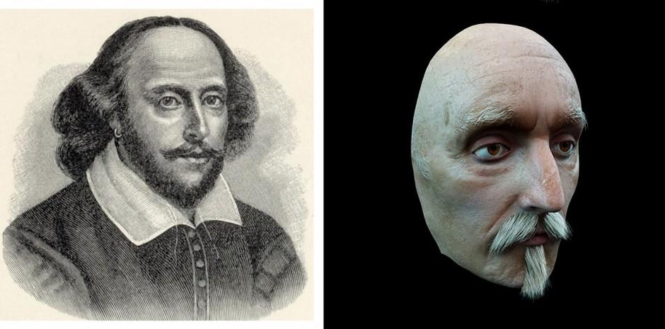 7. Реконструкция лица Уильяма Шекспира выполнена с посмертной маски английского поэта и драматурга.