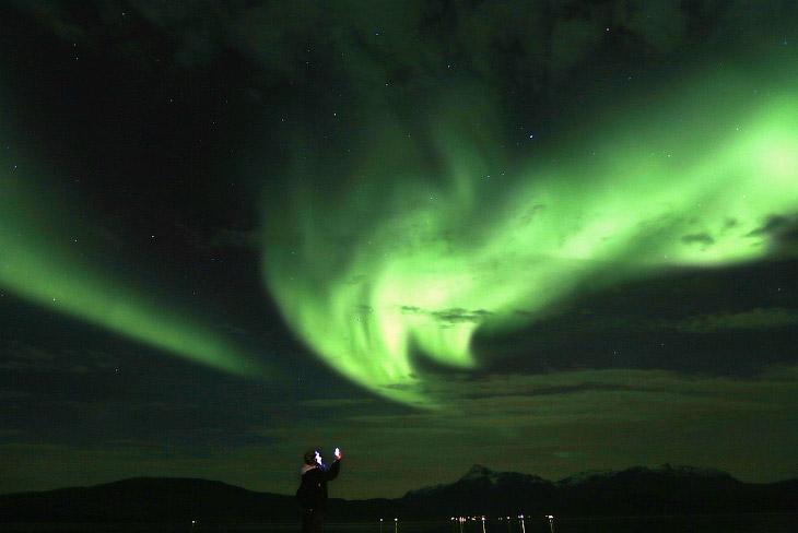 1. Дорога на острове Сенья в Норвегии, 29 сентября 2014.