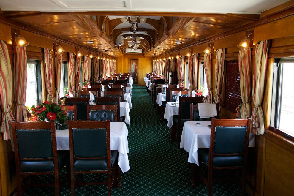 «Фишка» поезда — обзорный вагон («The observation car»). Он расположен в хвосте поезда и оборуд