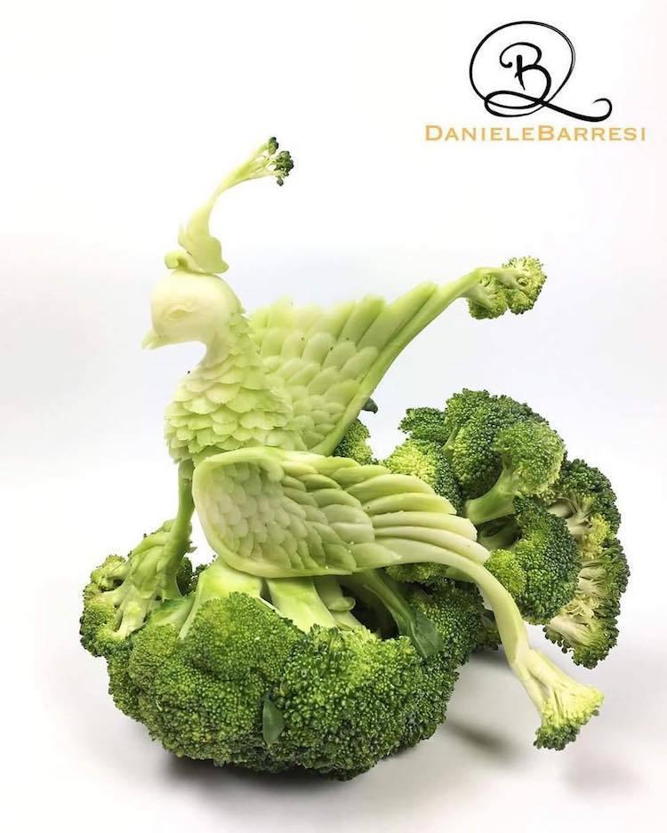 Еда, как произведение искусства: шедевральный карвинг от Daniele Barresi