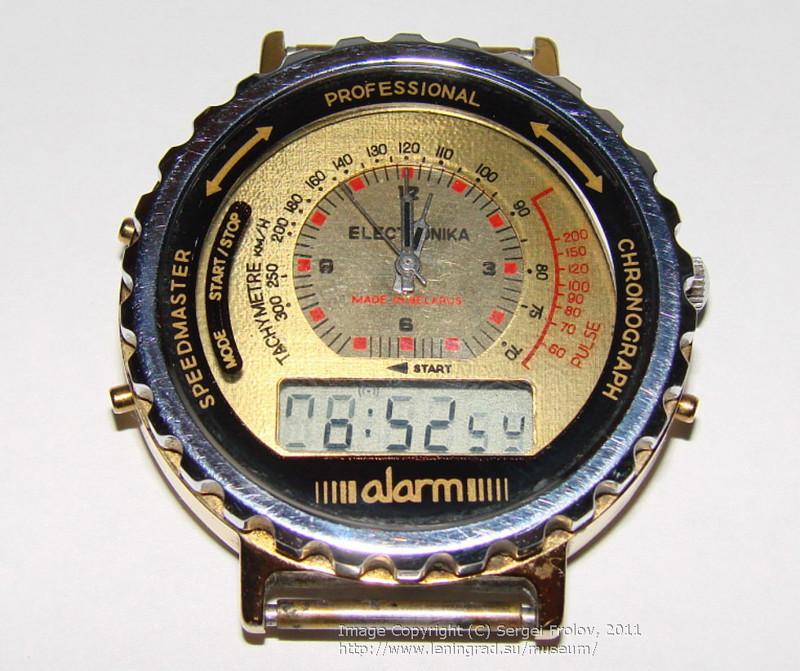 «Электроника» — наручные часы с аналоговым и электронным циферблатом 2 в 1