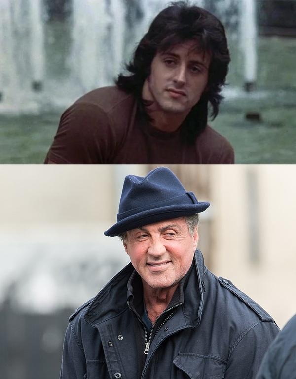 Знаменитые актеры в одном из первых фильмов и в одном из последних.