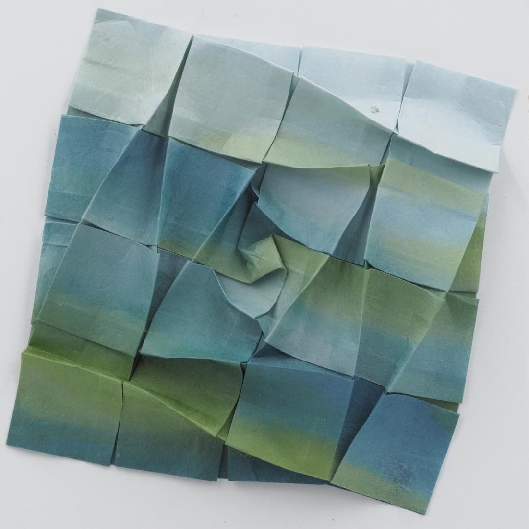 Tessellated Origami Sculptures by Goran Konjevod