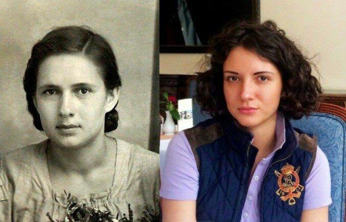Разница между фотографиями - 65 лет.