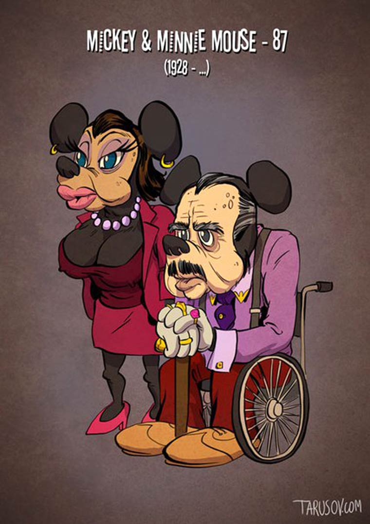 If cartoon characters grew older as real actors