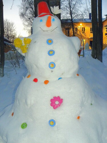 Прекрасная снежная дама