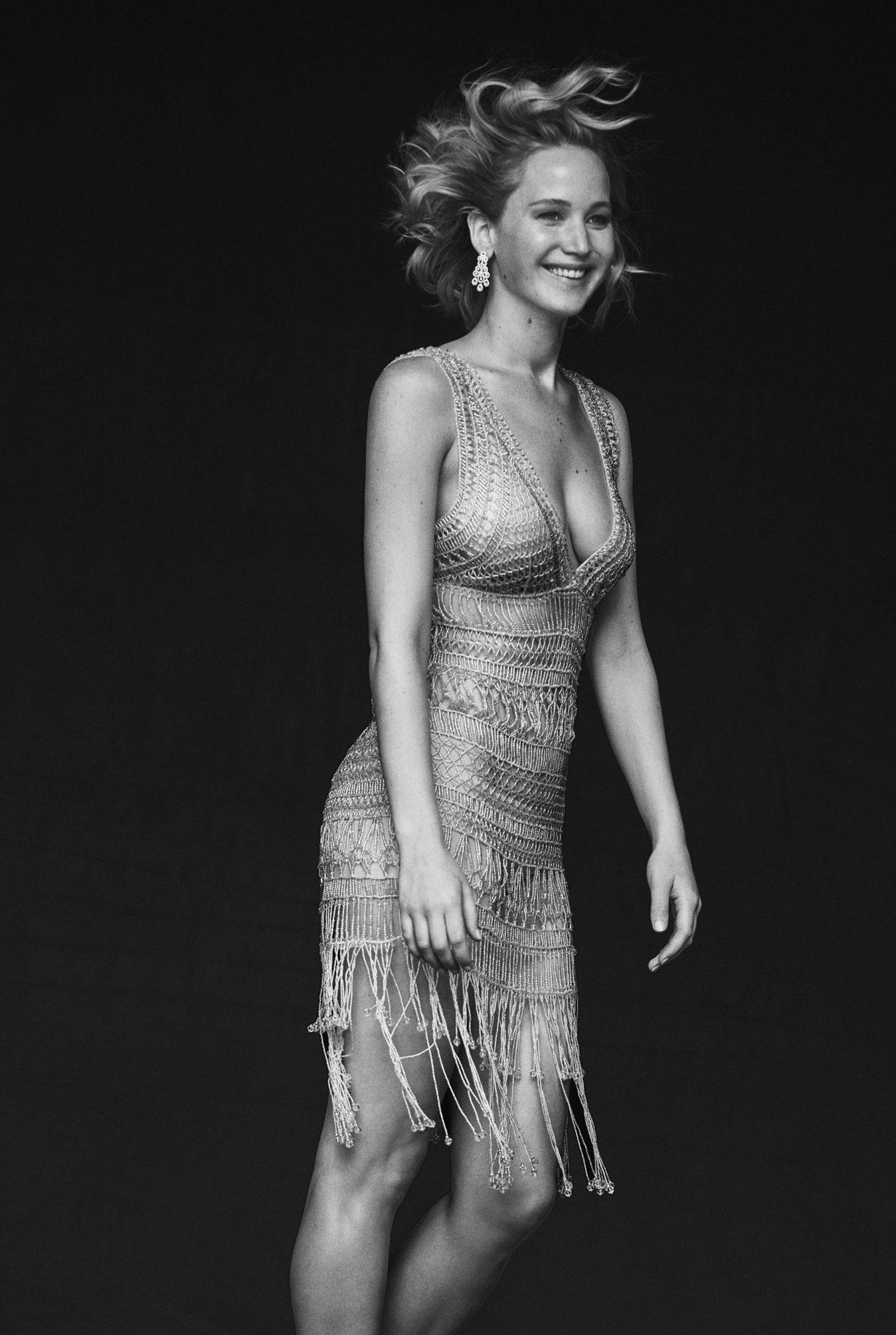 на съемочной площадке с Дженнифер Лоуренс / Jennifer Lawrence by Peter Lindbergh - Vanity Fair US Holiday 2016