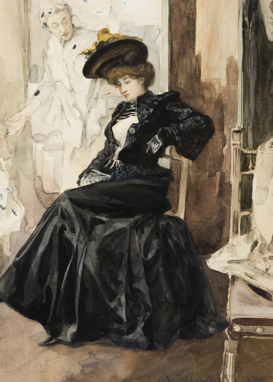 Seated Lady in Black