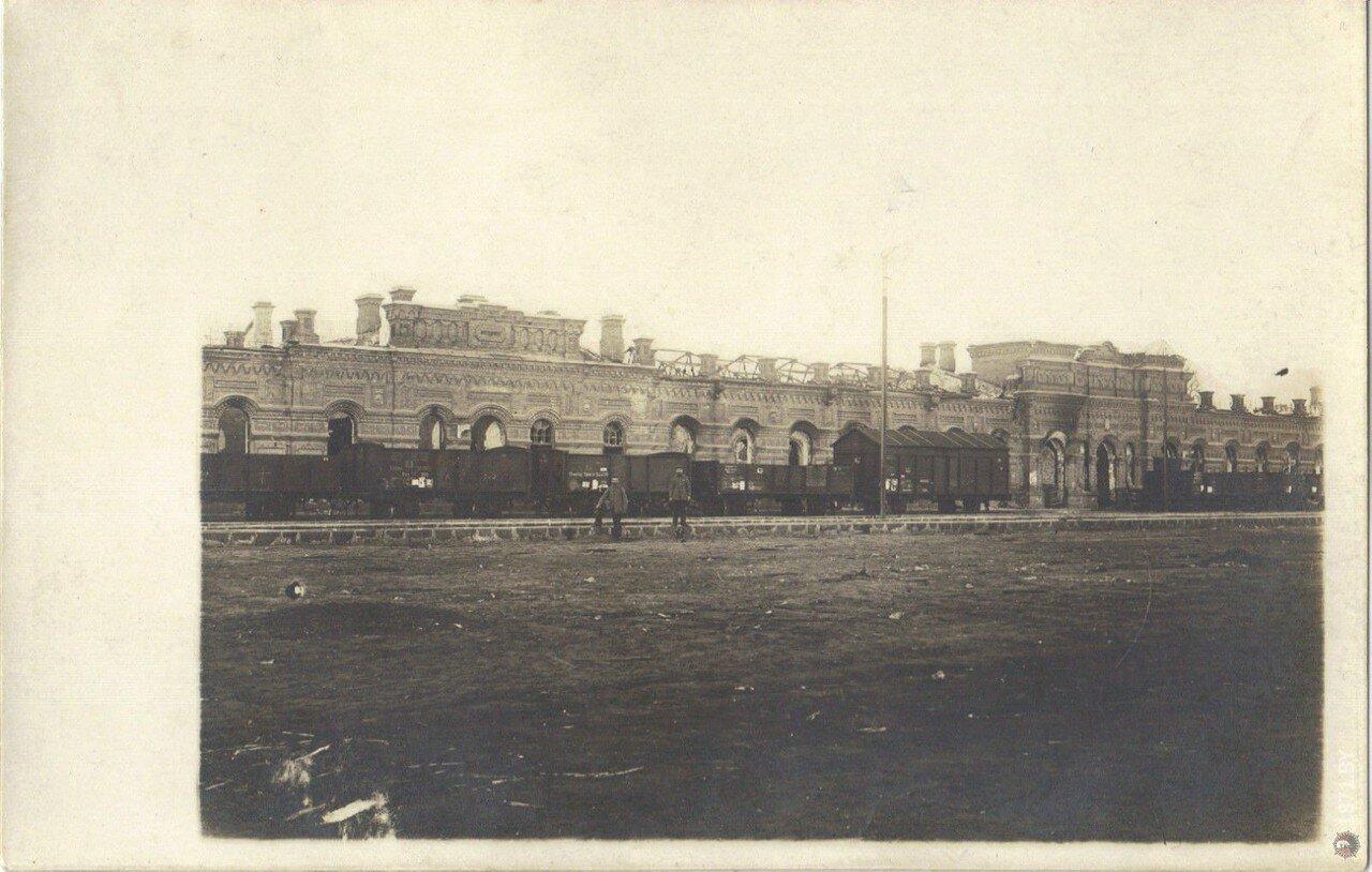 Разрушенный Полесский вокзал