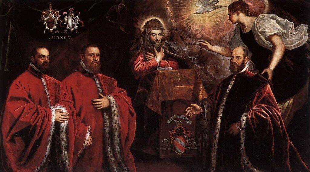 Domenico_Tintoretto_-_Annunciation_and_Three_Avogadri_-_WGA19631.jpg