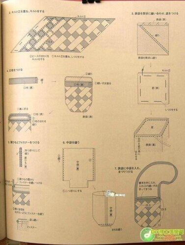 Ancient cloth blue cloth bag and small things - ONDORI