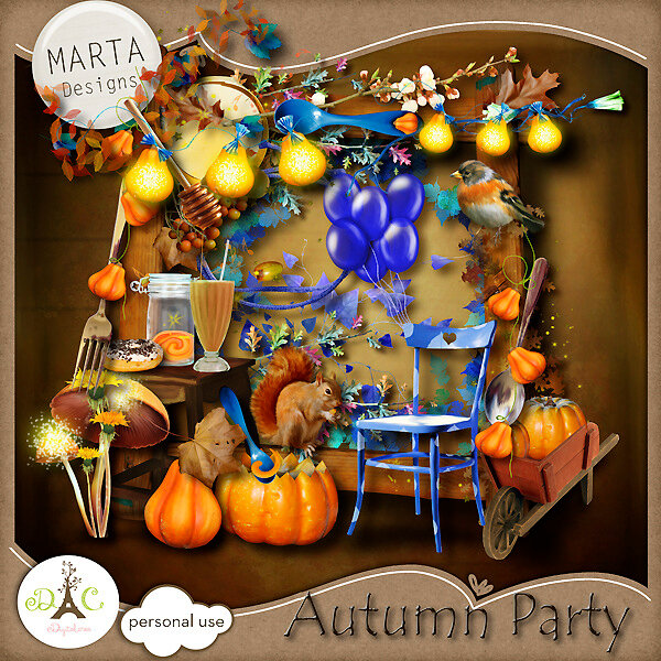 Скрап-набор Autumn party