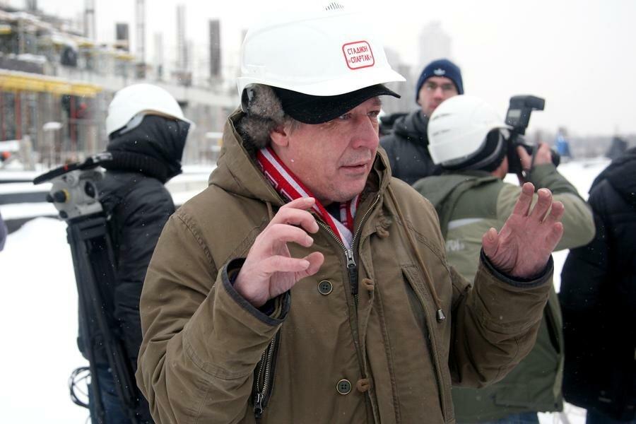 Михаил Ефремов на стадионе «Спартак» (Фото)