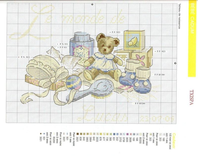 3 июля 2012 г., 11:50.  Сейчас вышиваю детскую метрику.Хочу поделиться с вами схемой и показать...